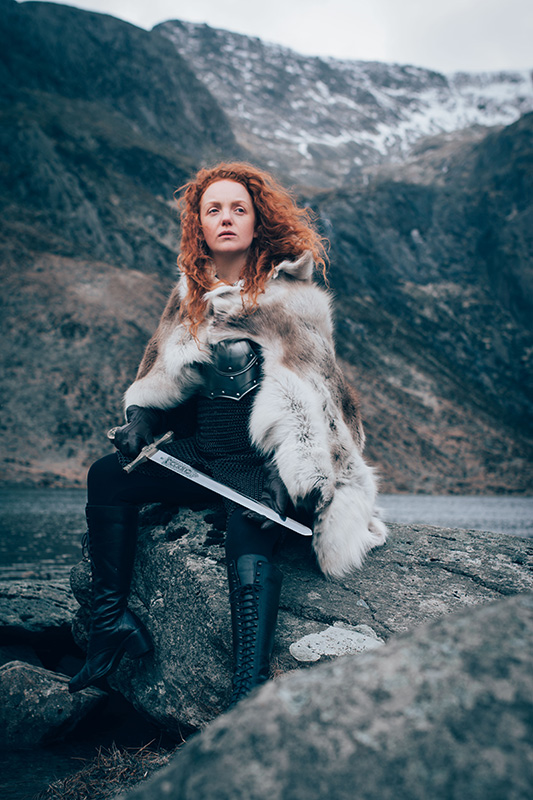 Ivory Flame by Andrew James Photography Ivory Flame battle warrior Snowdonia  Time-traveller