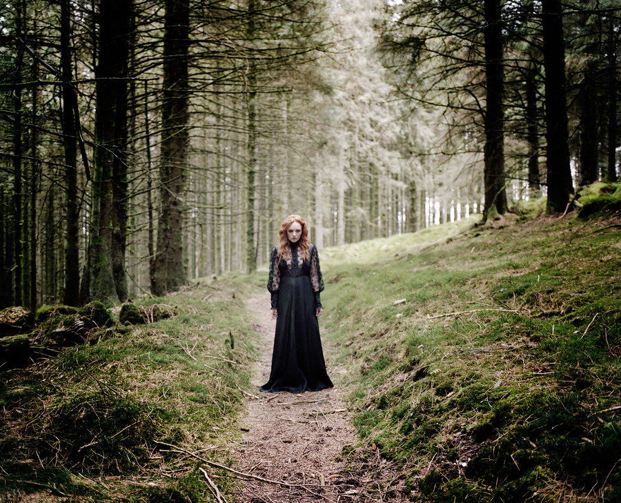 Haunting ghostly fashion image of Ivory Flame by Brendan Gara Photography in Scotland