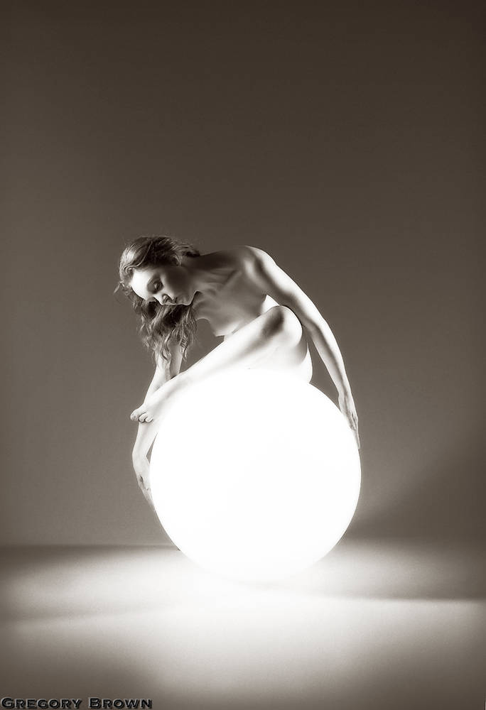 Ivory Flame by Gregory Brown Ivory Flame Nude Orb  Figure