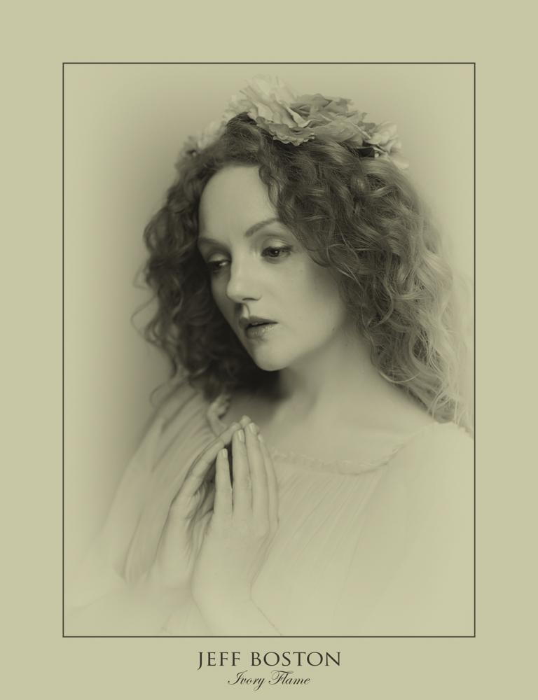 Classic Pre-raphaelite model Ivory Flame by photographer Jeff Boston