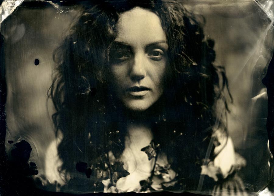 Wet plate collodion portrait of model IVORY FLAME by Matt McCosh