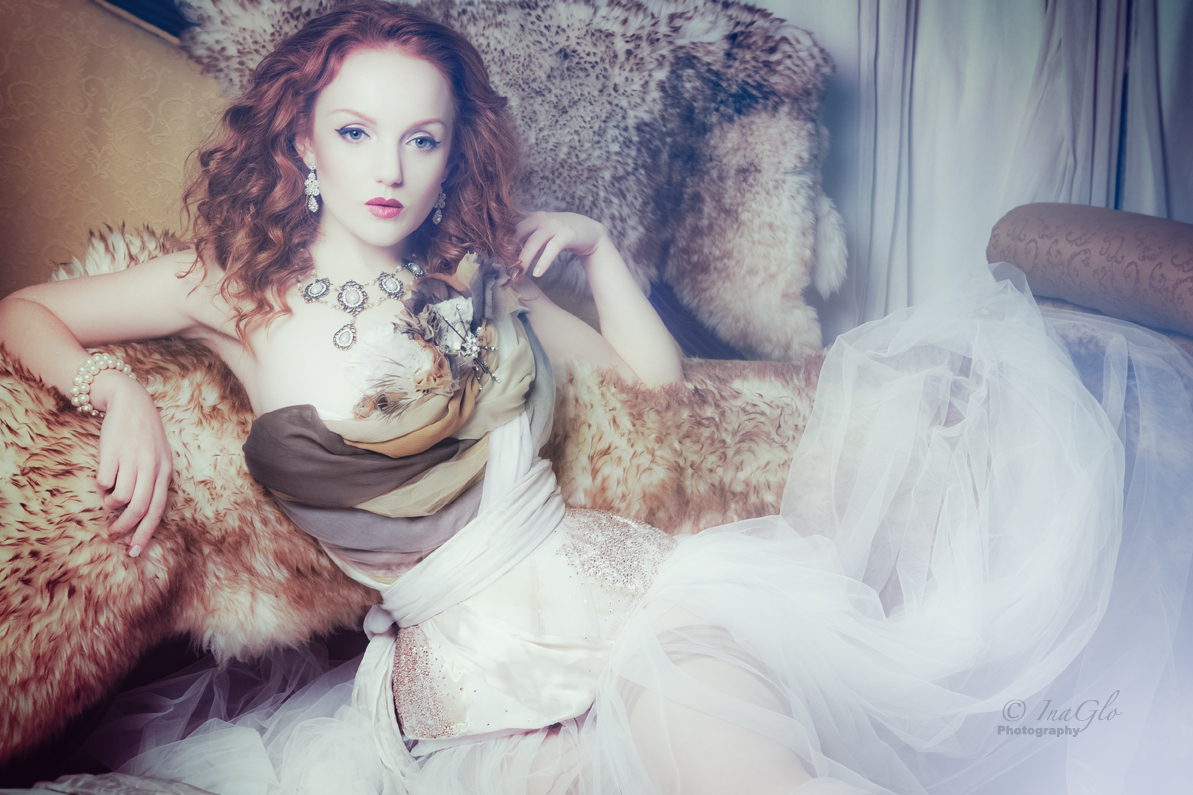 Ivory Flame in Sparklewren corsetry