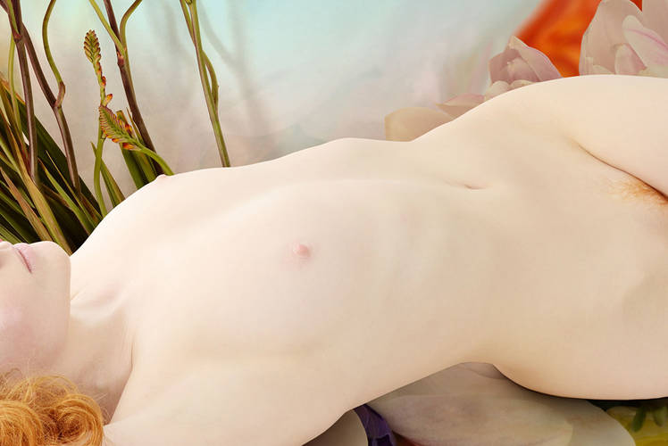 Jaime Travezan Ivory Flame model flower nude abstract 1100