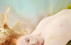Pale skin redhead nude model abstract Ivory Flame by Jaime Travezan Photography