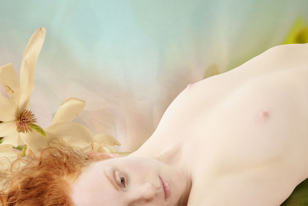 redhead nude model abstract Ivory Flame by Jaime Travezan Photography