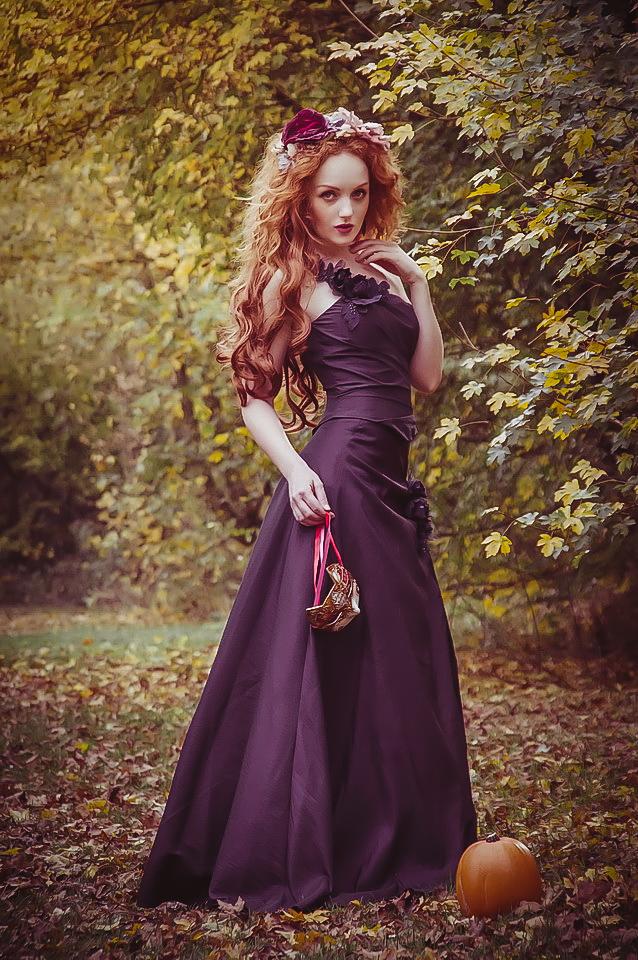 Halloween Fashion autumn redhead Ivory Flame by photographer Karen Jones