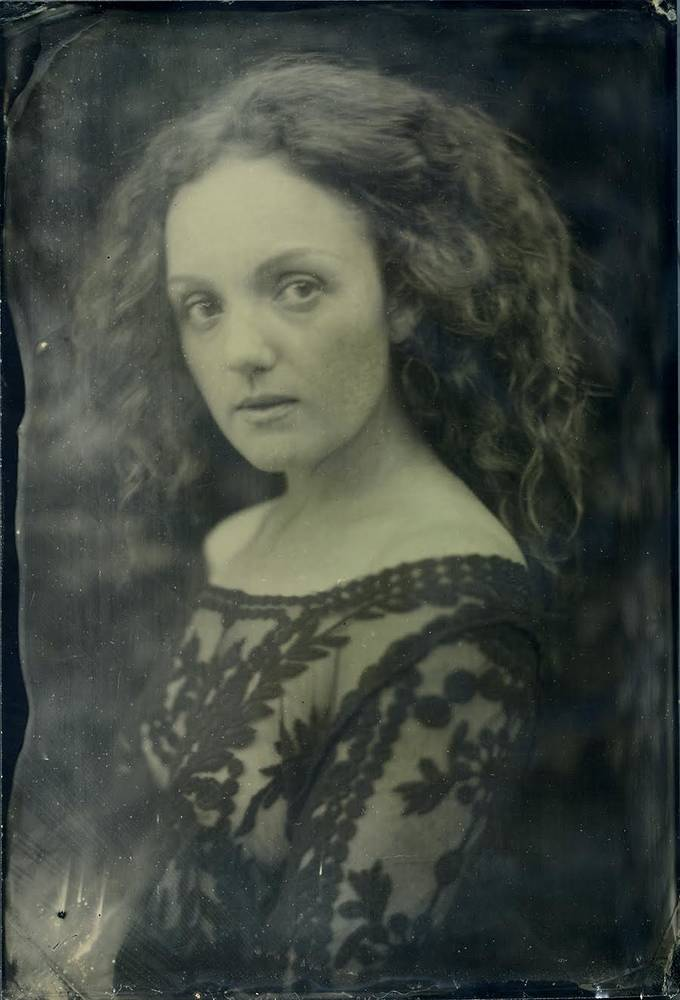 Wet plate collodion portrait of Pre-Raphaelite model IVORY FLAME by Matt McCosh