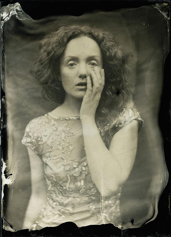 Wet plate collodion portrait of professional model IVORY FLAME by Matt McCosh