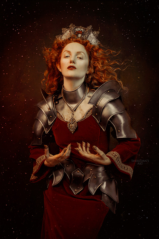 Ivory Flame by Sheridan Arts Ivory Flame Arcadia redhair battle warrior model 2 800  Time-traveller