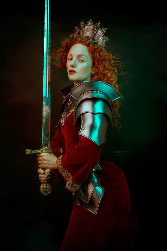 Ivory Flame by Sheridan's Art Ivory Flame redhead model knight warrior sword 1 800  Time-traveller