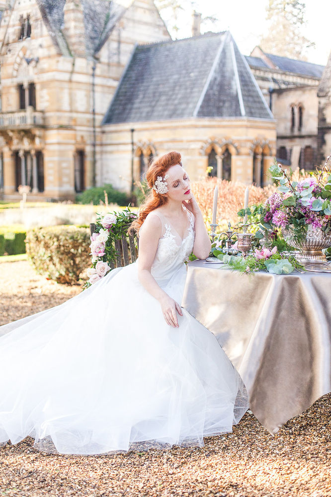 Bridal wedding red-haired model IVORY FLAME fashion by Xander and Thea Photography