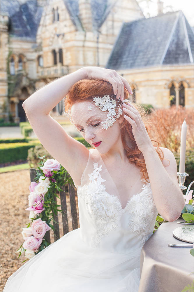 Bridal Wedding Ettington Editorial Photoshoot with model Ivory Flame by Xander & Thea