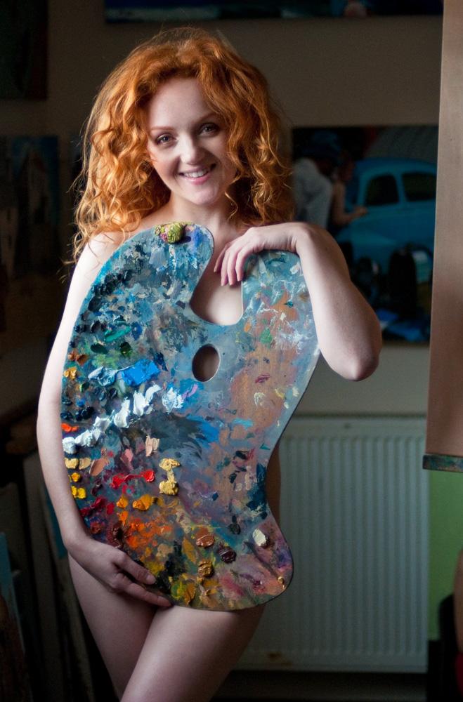 Art Model Rebecca Parker Ivory Flame