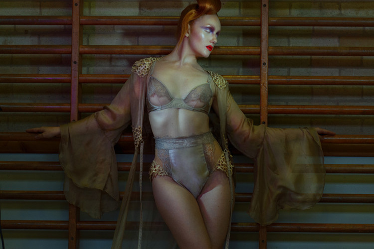 Salleh Sparrow Photography IVORY FLAME lingerie fashion model