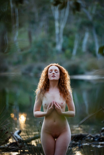 Art Nude model IVORY FLAME in Australia by photographer Richard Plumb
