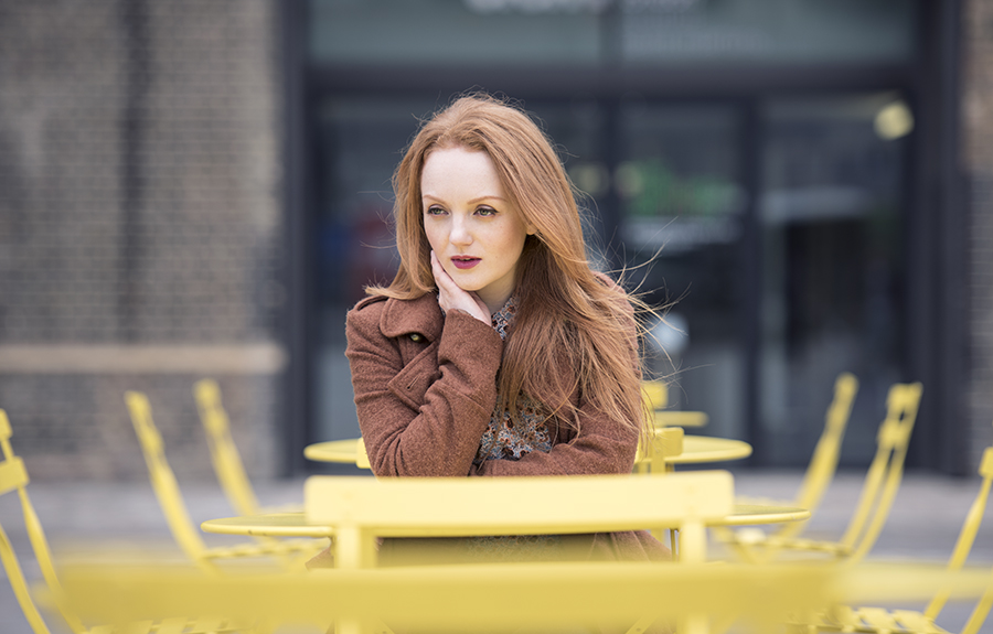Fashion Model with red hair IVORY FLAME in London by photographer Cornerstone