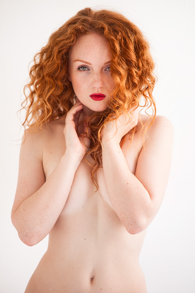 Redhead model IVORY FLAME by photographer Phil Chaplin