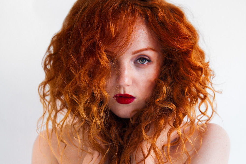Red-haired model Ivory Flame by Phil Chaplin Photography