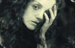 Model IVORY FLAME by Perception MJM Photography using wet plate collodion