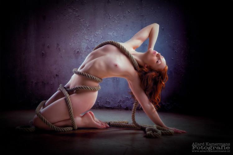 Allard Kamermans Ivory Flame Model Nude Rope