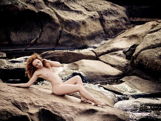 Sensual Artz Ivory Flame Model Art Nude Redhead