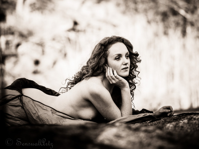 Ivory Flame Art Nude Model Portrait by Sensual Artz Photography