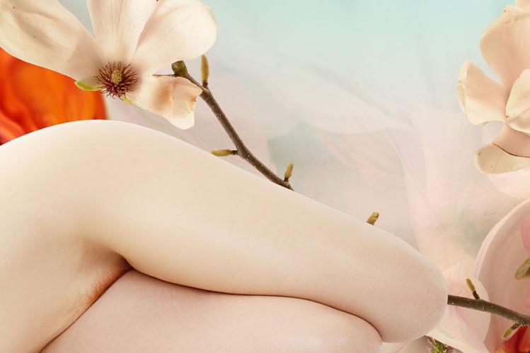 Jaime Travezan Ivory Flame nude model abstract 900