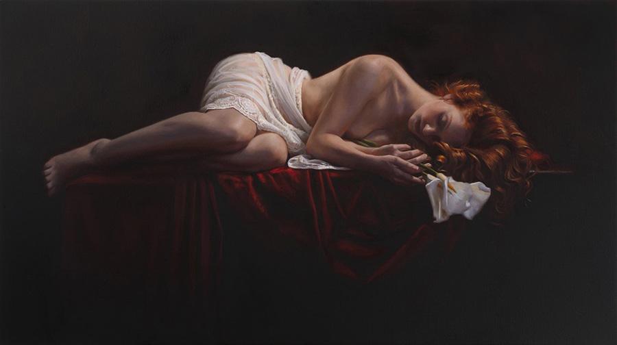Ivory Flame by tina-spratt-art-ivory-flame-model-sleeping-nude  Canvas