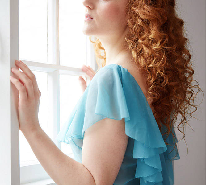 ivory flame portrait fashion redhead art model