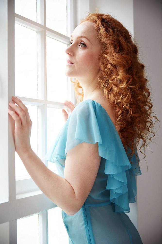 ivory flame portrait fashion redhead art model