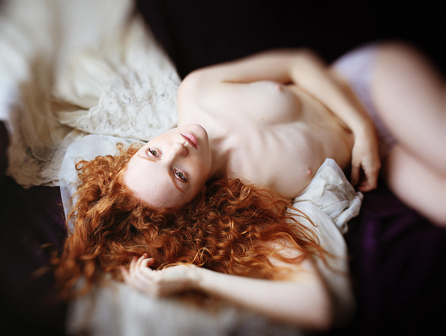 Redhaired Model Ivory Flame by Donatas Za Zazirskas