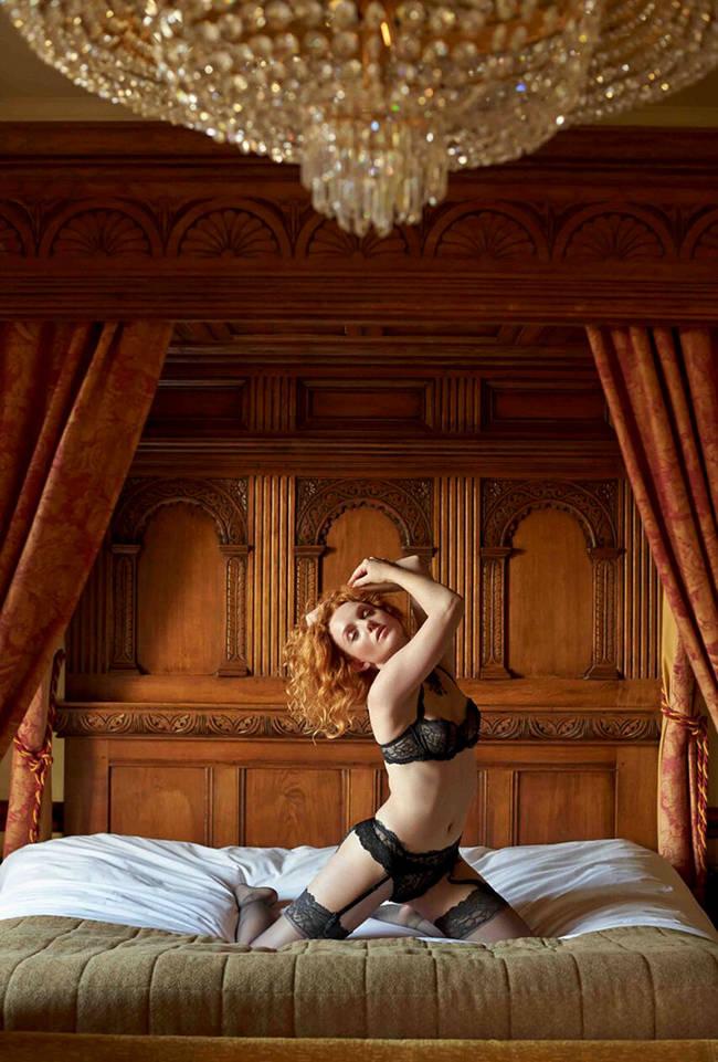 ivory flame artistic art model lingerie