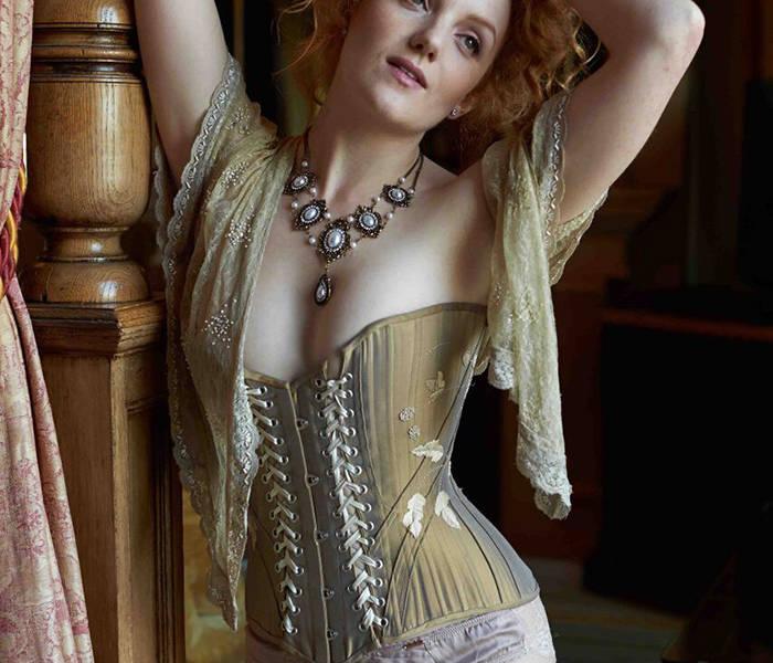 Ivory Flame model in Sparklewren corset