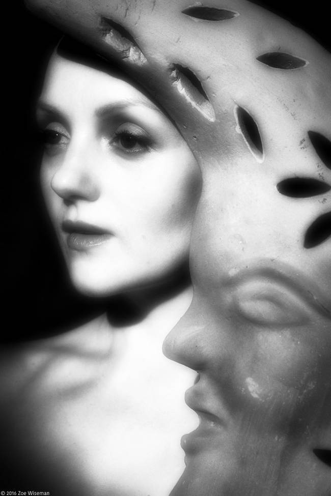 Model Ivory Flame art Zoe Wiseman