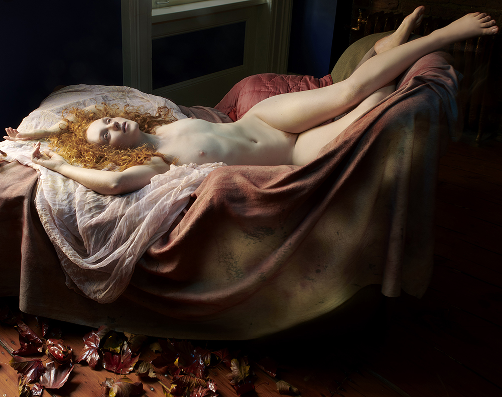 Ivory Flame by Ivory Flame Remi Rebillard nude reclining autumn leaves 1000  Figure