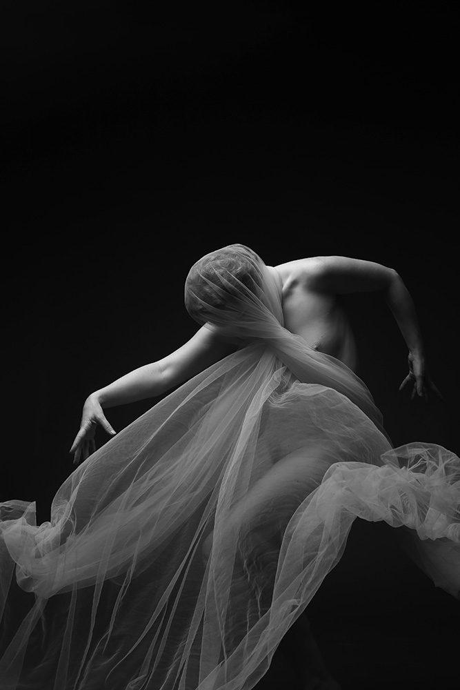 Ivory Flame by Jewelled Earth Studio Nudes Movement Fabric Web 13 Self portrait Figure