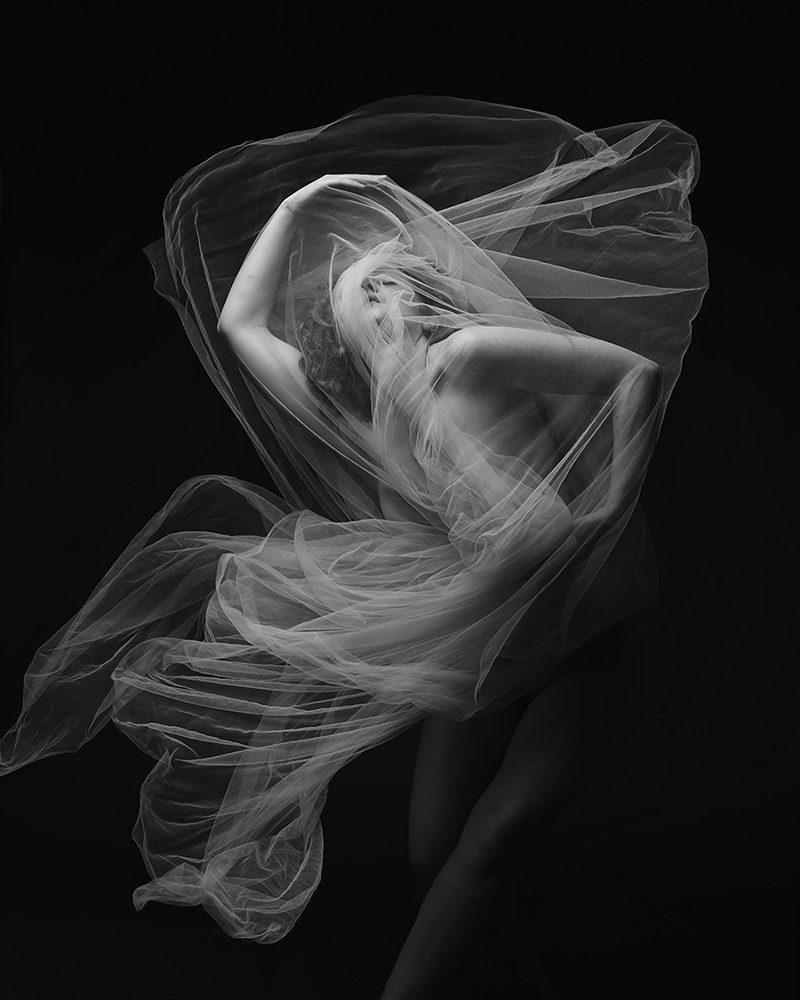 Ivory Flame by Jewelled Earth Studio Nudes Movement Fabric Web 7 Self portrait Figure
