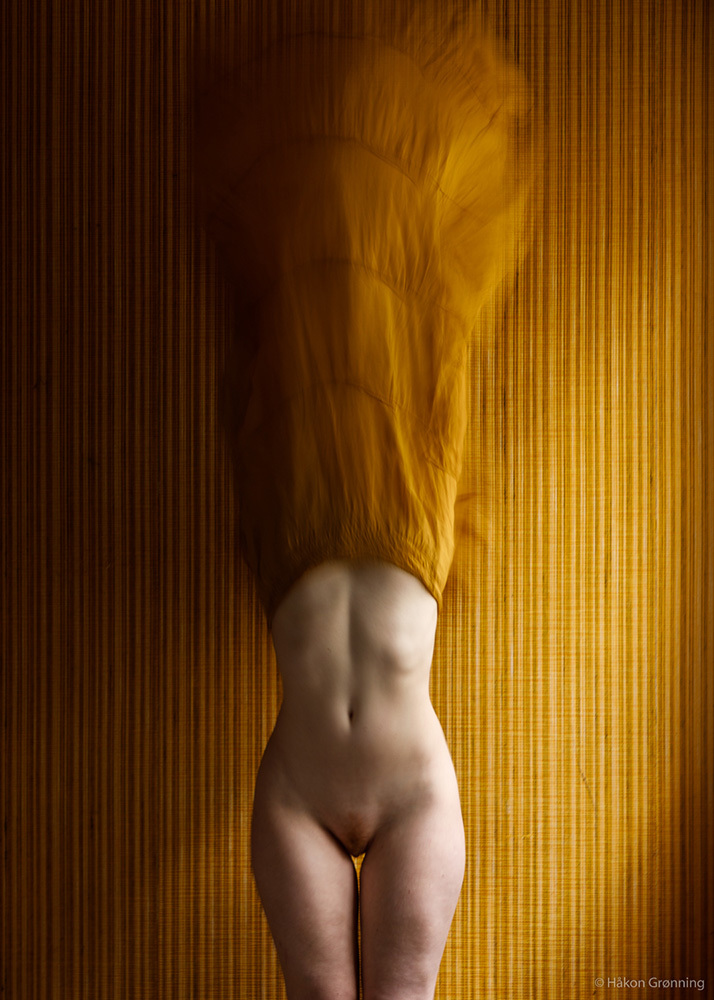 Ivory Flame by Hakon Gronning Ivory Flame yellow dress surreal fine art conceptual 900  Surreal