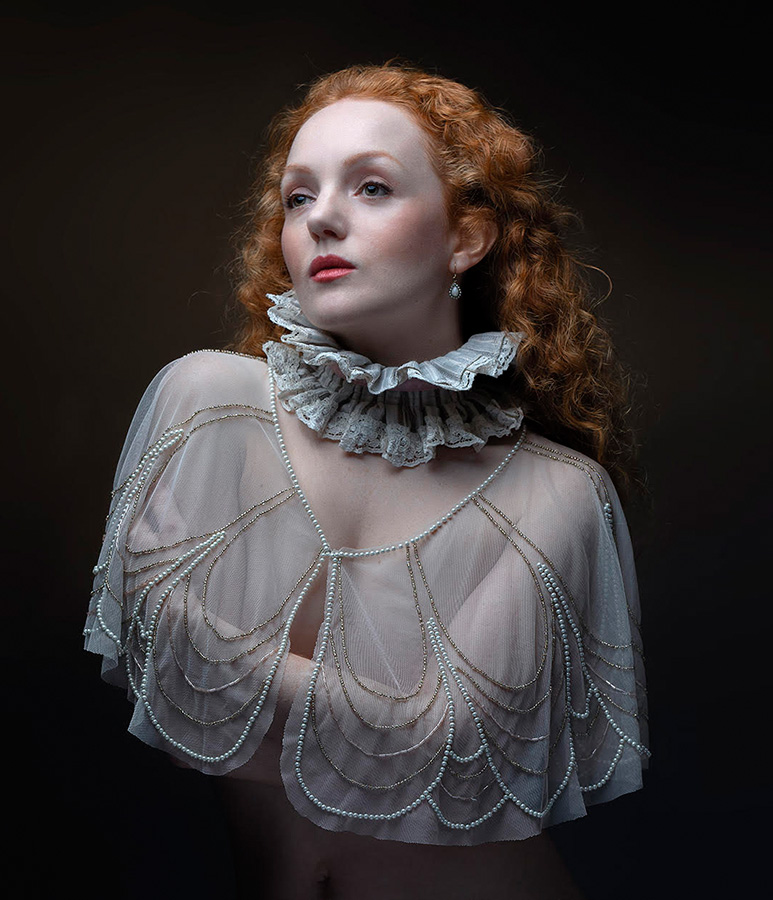 Ivory Flame by Ivory Flame model Jan Slotboom Elizabethan ruff classical  Time-traveller