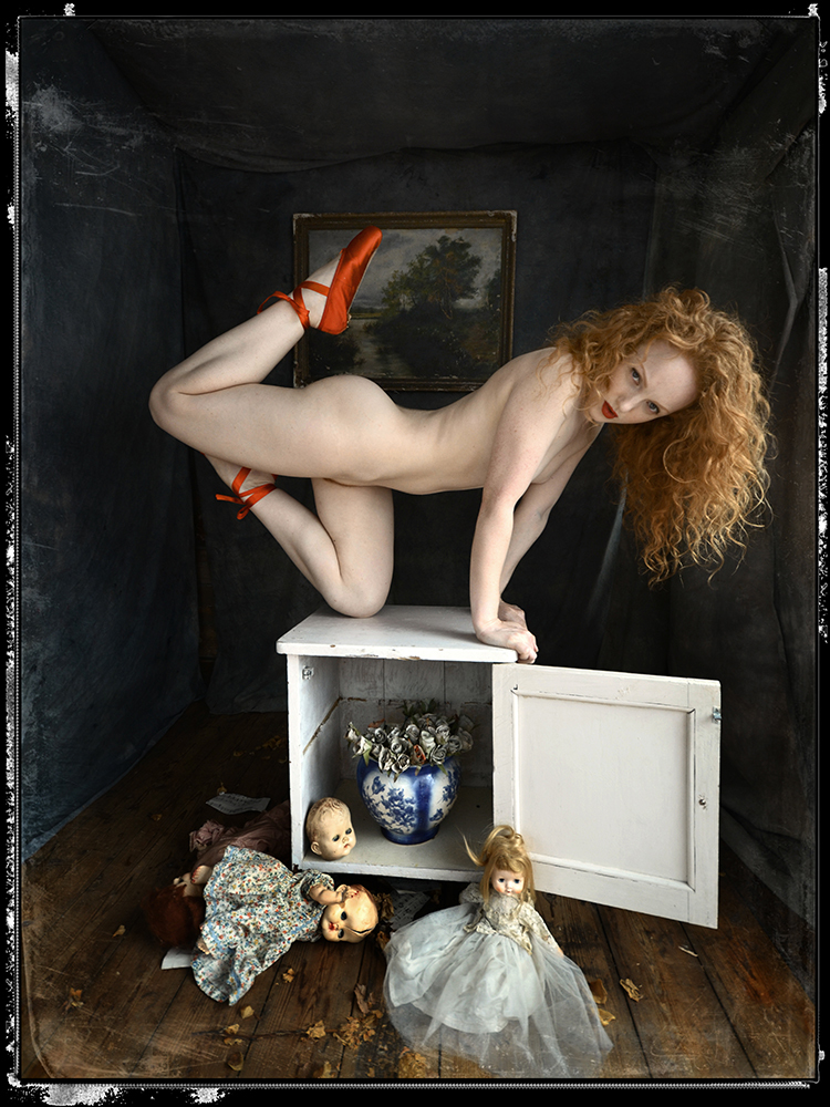 Ivory Flame by Peter Kelly Ivory Flame surreal quirky redhead model art nude 900  Surreal